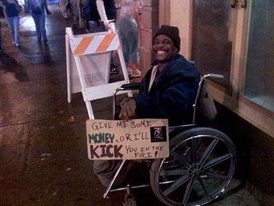 funny panhandling signs