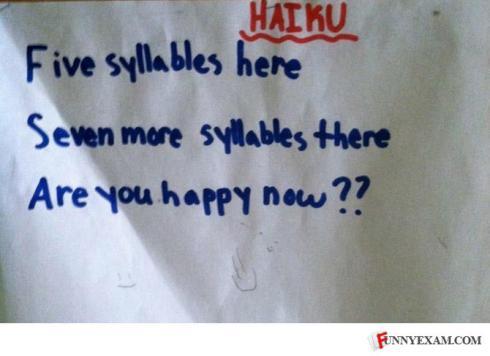 passive aggressive haiku